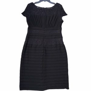Adrianna Papell Bandage and Lace  Black Dress 12P